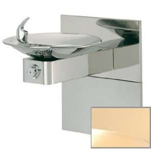 Gold Barrier free, high polished stainless steel drinking fountain
