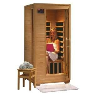 1 Person Sauna Hemlock FAR 5 Carbon Infrared Heaters CD