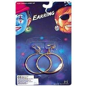 Just For Fun Gold Hoop Pirate Earrings  Toys & Games