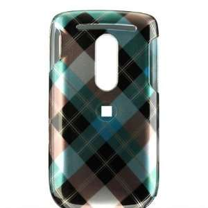 BLUE PLAID HARD CASE COVER FOR T MOBILE HTC DASH 3G PHONE Electronics