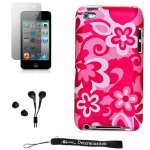 Flowers Design Cover / 2 Piece Snap On Case for New Apple iPod Touch 4