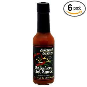Island Grove Habanero Hot Sauce, 5 Ounce (Pack of 6)