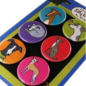 Italian Greyhound Silly Dog Magnet Set of 6: Office