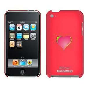 Funky Heart Pink on iPod Touch 4G XGear Shell Case