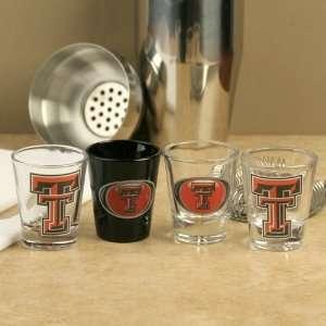Texas Tech Red Raiders Team Logo 4 Pack Shot Glass Set