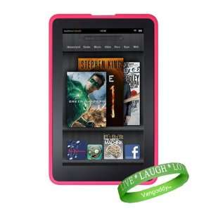 High Grade Ultra Pink Kindle Tablet Silicone Skin Case for the Kindle
