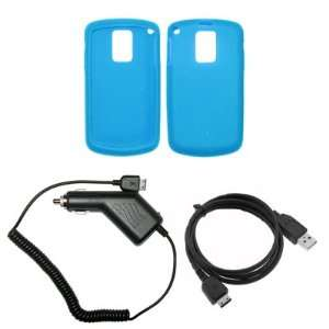 Light Blue Silicone Gel Skin Cover Case + Rapid Car