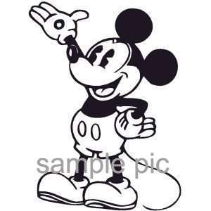 Mickey Mouse Window Wall Decal Sticker  WHITE COLOR SM0014  6L