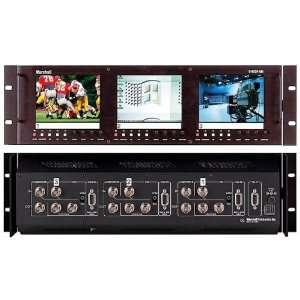 SDI Rack Mountable Triple 5 LCD Monitors