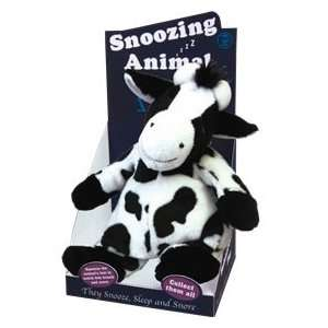 Soft feel snoozing snoring cow   moves and snores complete with