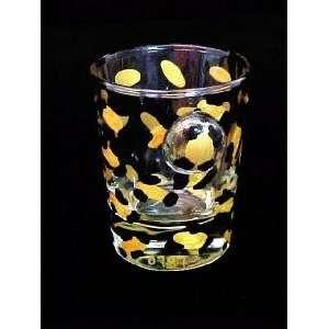 Gold Leopard Design   Collectible Shot Glass   2 oz