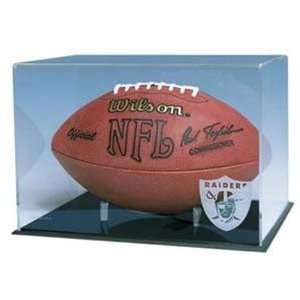 Full Size Football Display Case with Engraved NFL Team Logo