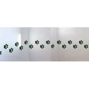 Wall Hugs Cat Paws Paw Print Wall Decal, Hunter Green