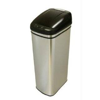 Oxo Good Grips Black Steel Rectangular Trash Can, 10