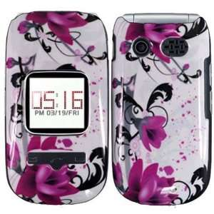 Hard Pink Flower Case Cover Faceplate Protector for Pantech Breeze