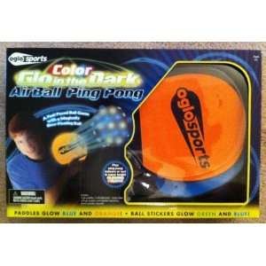 Color Glo in the Dark Air Ball Ping Pong Toys & Games