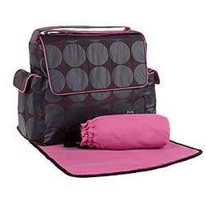 Black/char/pink Dot Messenger Bag By Oioi Baby Baby