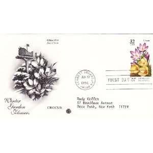 1996 U.S. 32ct Stamps #3025 3029 Winter Garden Flowers