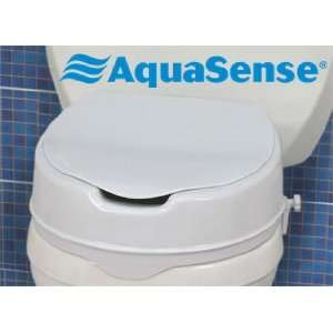 AquaSense® Raised Toilet Seat with Lid Health & Personal