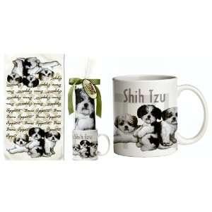 Shih Tzu Puppy Dog Breed Gift Set ~~ Includes 11 ounce COFFEE MUG