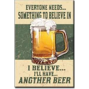 Beer Distressed Retro Vintage Refrigerator Magnet: Home & Kitchen