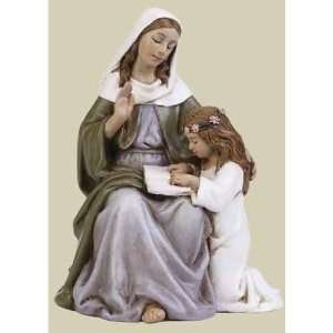 St. Anne Religious Figurines 2.75  Home & Kitchen