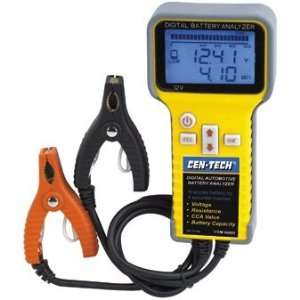 Digital Automotive Battery Analyzer with Large Backlit LCD