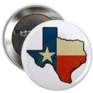 2.25 Button Texas Flag Texas Shaped: Everything Else