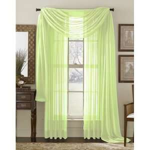 Sage Green Solid Sheer Window Panel Brand New Curtain: Home & Kitchen