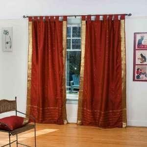 Indo RustTab Top Sari Sheer Curtain (43 in. x 84 in