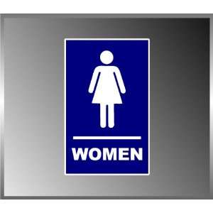 Ladies Restroom ADA Bathroom Sign Vinyl Decal Bumper