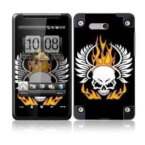 Flame Skull Protective Skin Cover Decal Sticker for HTC HD