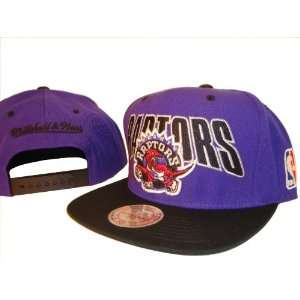 Purple & Black Adjustable Snap Back Baseball Cap Hat