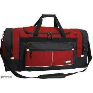 Gym Sport Duffel Duffle Travel Tote Bag Luggage RED