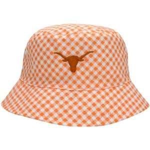 Texas Longhorns Orange Ladies Plaid New Bucket Hat