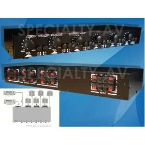 Selector Switch Switcher Volume Level Control, 2 AMP 6 ZONE 900 Watt