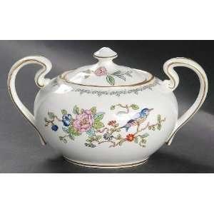 Aynsley Pembroke Gold Trim Sugar Bowl & Lid, Fine China Dinnerware