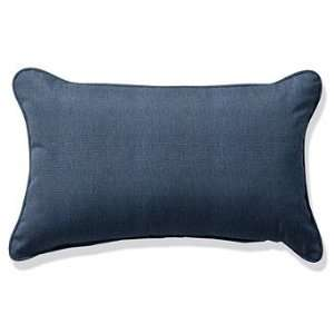 Outdoor Outdoor Lumbar Pillow in Sunbrella Blue   20 x 13