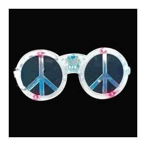 Peace Sign LED Sunglasses Assorted Colors