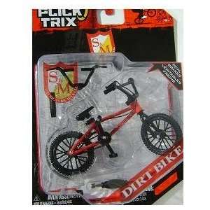 Flick Trix S&M Dirt Bike (Red) 4 Fingerbike. Toys & Games