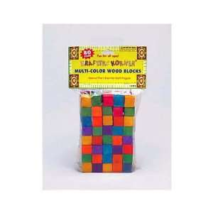 25 Packs of 80 Assorted Wood Blocks Home & Kitchen