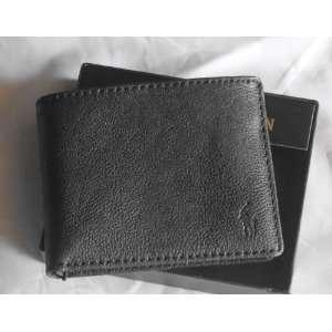 Lauren Black Leather Men Bifold Wallet & Credit Card Holder MSP $120