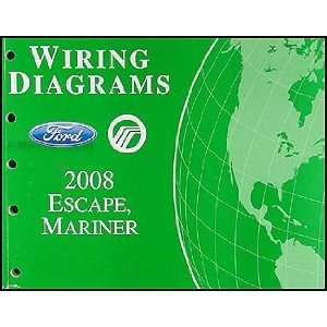 Escape & Mercury Mariner Wiring Diagram Manual Original Ford Books