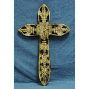 Cross Inc. Natural Wood Hand Carved Cross 22 Medium Size