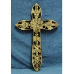 Cross Inc. Natural Wood Hand Carved Cross 22 Medium Size