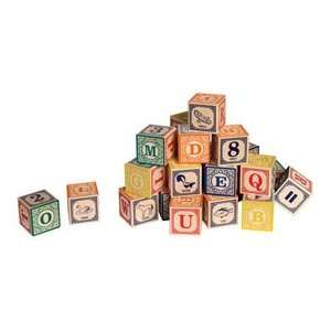Classic ABC Wood Blocks Toys & Games