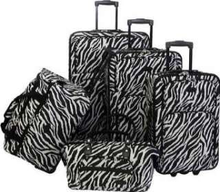 American Flyer Animal Print 5 Piece Luggage Set Clothing