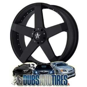 18 Inch 18x8 KMC wheels ROCKSTAR CAR Matte Black wheels