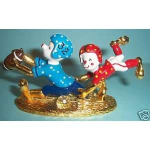 Pewter Painted Football Player Clowns K1448: Everything Else