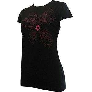 FMF Apparel Womens E Motion T Shirt   8/Black Automotive